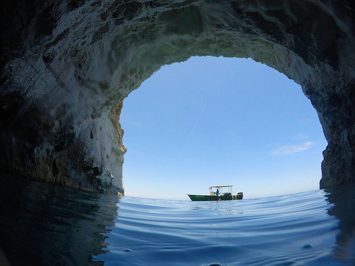Sea cave - Carmen island